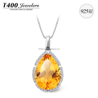 T400 fashion joyas de 925 sterling plata con AAA Zirconia necklace set 10597