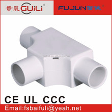 angle way cable fitting plastic pvc abs pp trunking pipe fitting