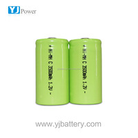 tablet pc 4000mah battery 1.2v 3500mah c ni-mh battery with battery connector for energy power generator