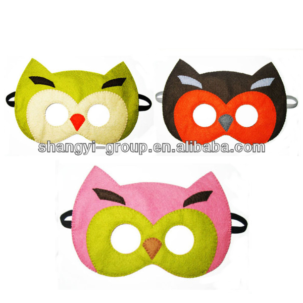(PT-06)Happy Party Owl Felt Animal Mask