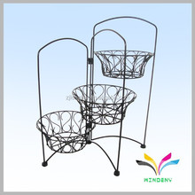 China supplier wholesale high quality display rack for plant pot new arrival antique metal wire decorative church flower stand