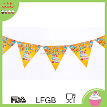 OEM string birthday party DIY flag banner advertising pennant flag paper bunting