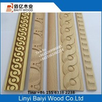 Beech Wood Slat Wood Molding Construction
