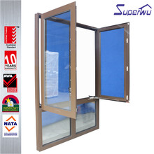 American Style hand crank aluminum casement window with fixed glass
