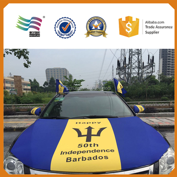 Promotional Barbados Flags for Car Decoration