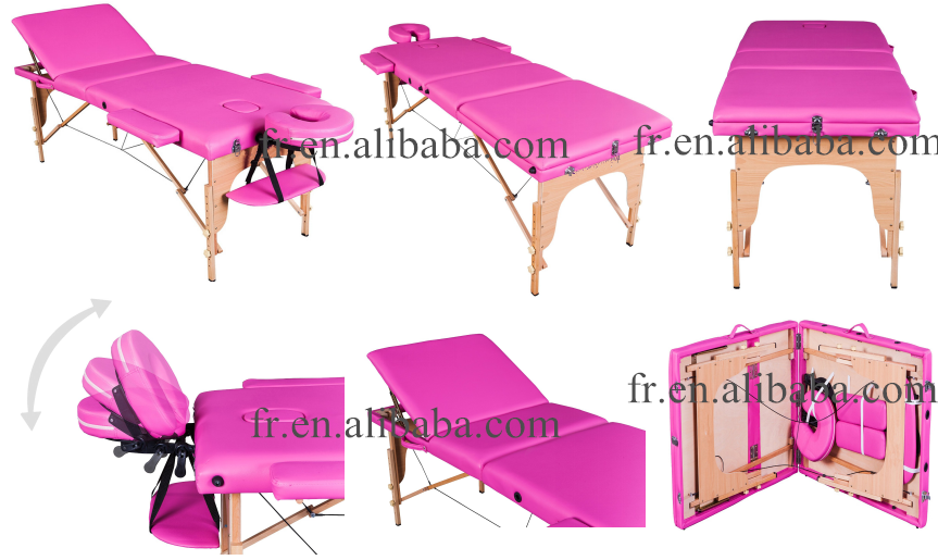 Commercial Furniture General Use and PVC, wood,foam Material used massage tables for sale solid wood massage table
