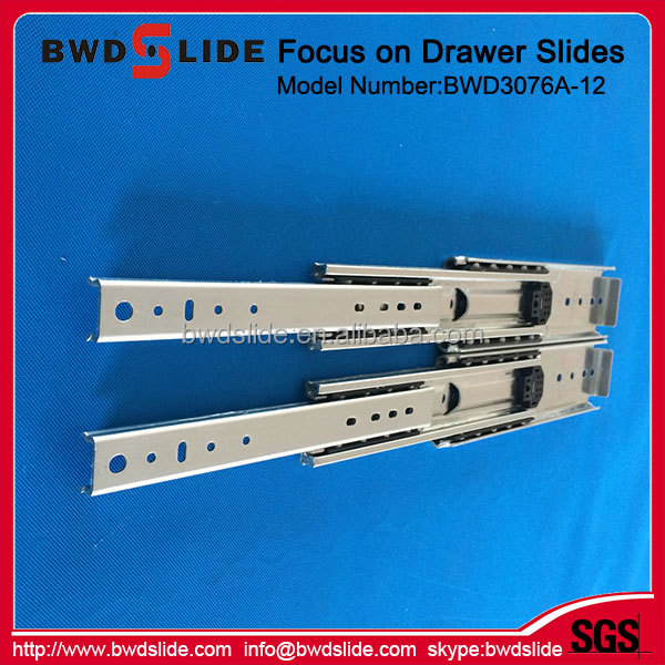 BWD3076A-12 High Grade Ball Bearing 10 Inch Furniture Euro Drawer Slides