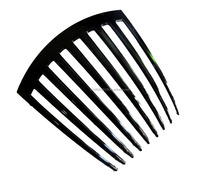 FRENCH TWIST HAIR COMB COLER BLACK 9 TOOTH DELUXE HAIR ACCESSORIES MADE IN THAILAND