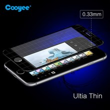 Full Cover color tempered glass screen protectors for iphone 6 and iphone 6 plus