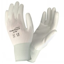 13G Knitted Black Nylon PU Gloves ,PU Palm Coated Gloves for safety work