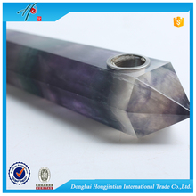wholesale donghai hongjintian dream product fluorite rough stone smoking pipe for sale