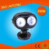 China supplier 20W rechargeable blue point led work light, super bright led spot light for car