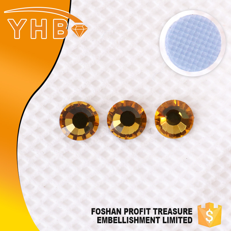 YHB direct selling ss16 Topaz color loose trimming rhinestone beads