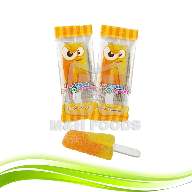 The Delicious Fruit Soft Sweets Is Made Into An Ice Cream Shape