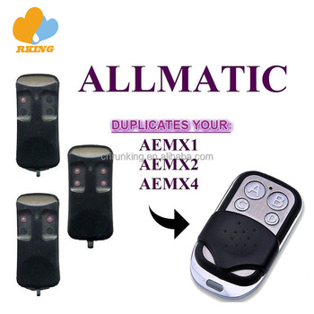 ALLMATIC AEMX1 AEMX2 AEMX4 Garage Gate Door Remote Control Duplicator 433.92MHz