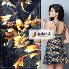 High quality online shopping fancy polyester flower printed chiffon fabric