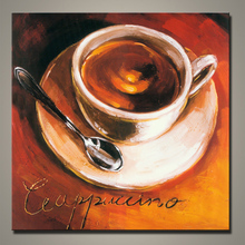 Handmade Modern abstract coffee painting pictures