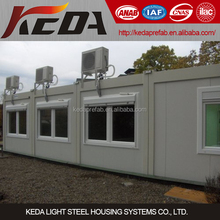 konck down movable container factory /warehouse /office with exhaust fan
