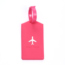 Customize promotional airline travel PVC luggage tag