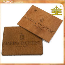 Simple design garment leather embossed labels & patches in guangzhou