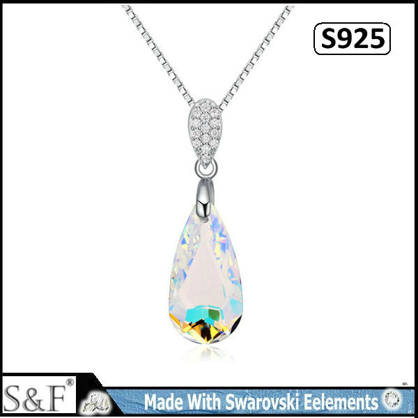 crystal from swarovski elements 925 sterling silver necklace