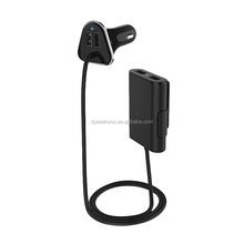 Smart IC 9.6A 4 USB Port Car Charger,Four USB Car Charger with Cable for Back Seat
