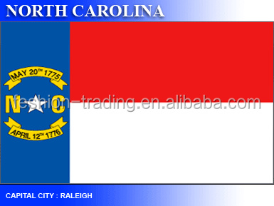Factory price for North Carolina flag