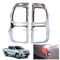 Auto Chromed Rear Lamp Cover For Toyota Hilux Revo 2015 Accessories ABS Chromed Tail Light Cover