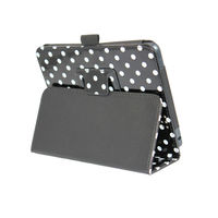 2015 HOT SALE Dotted Leather Front and Back Cover Case for Kindle Fire HD 7''