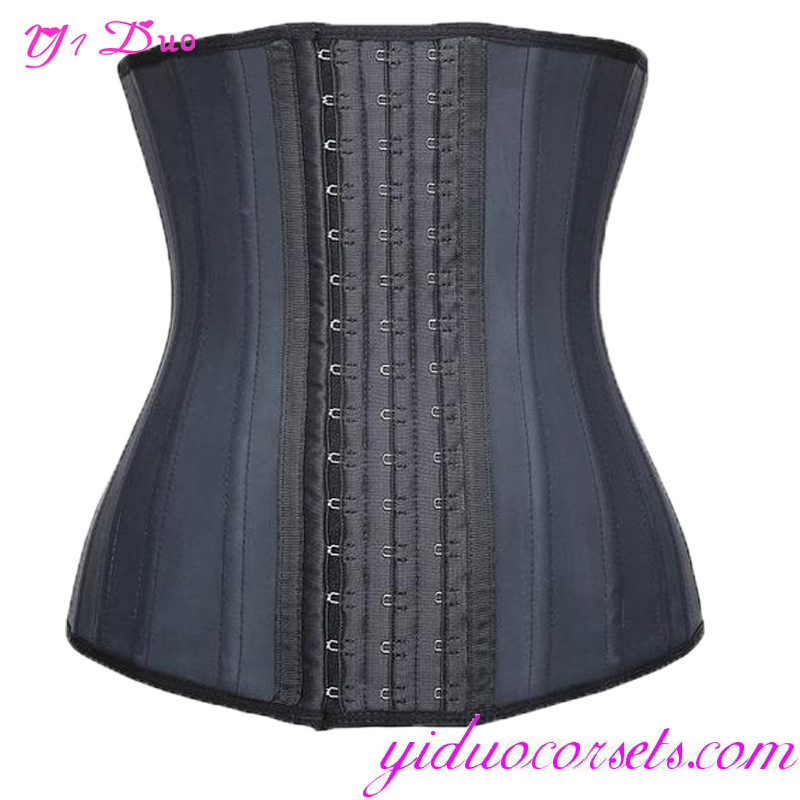 Black Hot Selling 25 Steel Boned Latex Waist Trainer