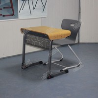 adult classroom furniture high school training desk and chair
