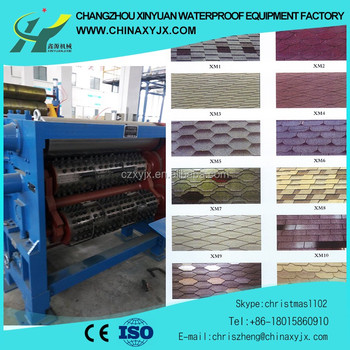 High quality hexagonal and round asphalt shingle machinery manufacturer