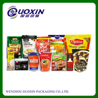 Customized Color Printing Doypack Stand Up Plastic Bag With Zipper