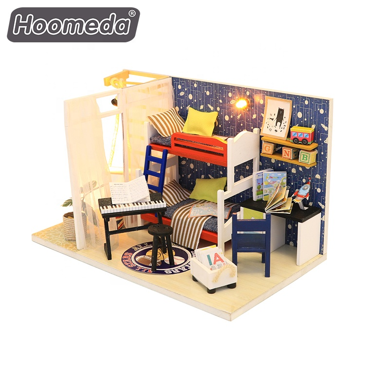 Fashion Europe DIY doll house room kit gift diy <strong>crafts</strong> for adults