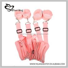 2016 Under the Bed Restraint Sex Toys for woman with Handcuffs and Ankle Cuffs bondage/adult fun ebay sex toys , bed restraints
