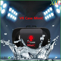 3d vr glasses small size Vr case mini virtual reality headset fit for android mobile phone