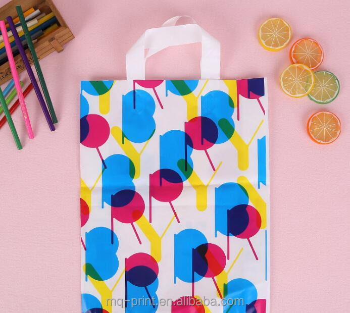 Printed Made Retail Shopping Handle Plastic Shopping Bag Custom