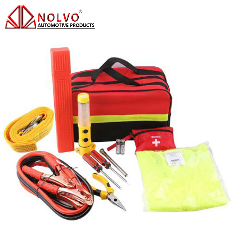 24 pcs Auto Road Safety Repaire Tool Bag Roadside Car Emergency Kit