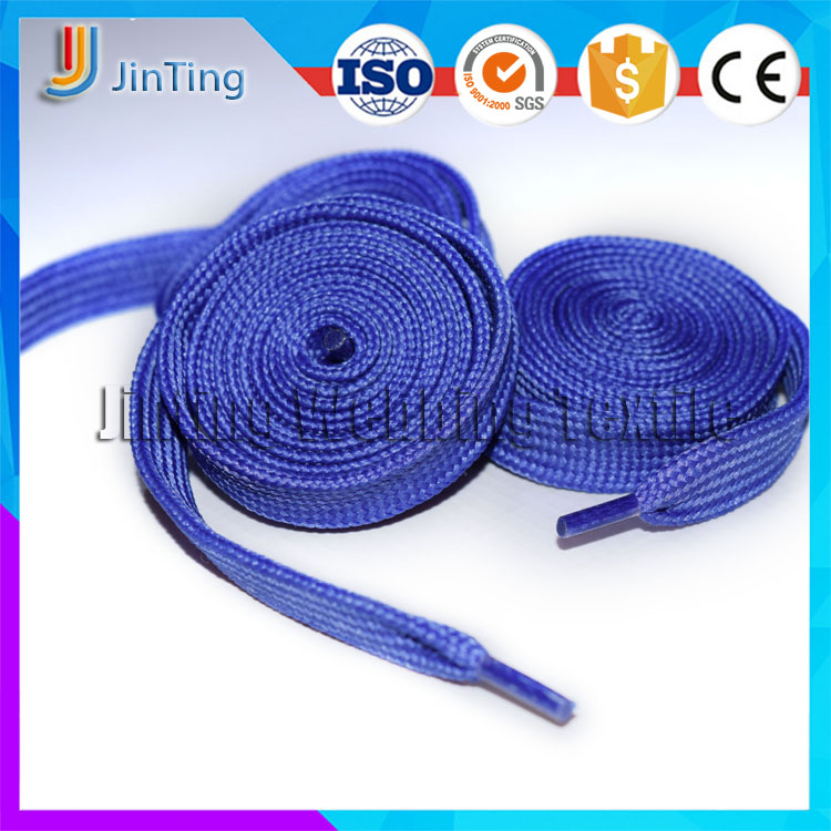Polyester Flat Striped Elastic Shoe Laces