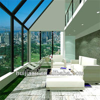 Fashion Top Grade Energy Saving Lowes Glass Curtain Wall For Villa Sunroom
