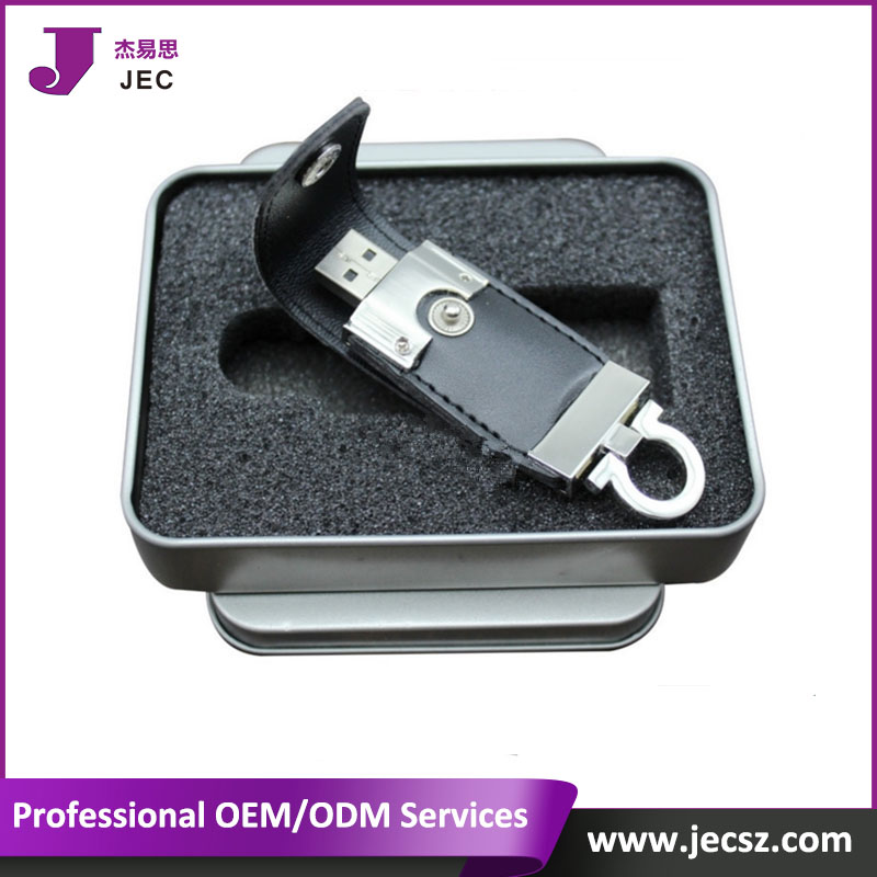 New Design leather 3.0 usb flash drive model JEC-3012
