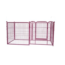 Folding pet dog kennels metal dog crate indoor with wheels