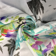 Distinctive Red Colorful Pearl Sequin Embroidery Clipped Chiffon Fabric Digital Printing For Towel