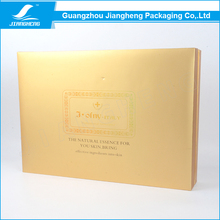 Gold colour big sturdy plain gift boxes packaging wholesale