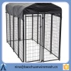 fully assembled Lucky Dog 6x10-foot Galvanized wire kennel