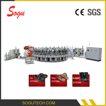 Xz0056 TPU, RUBBER, Polyurethane Shoe Sole Injection Molding Machine