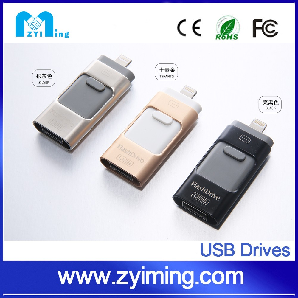 Zyiming High quality U-disk i-Flash Device HD otg usb flash drive u disk for iPhone 5 5s 6 Plus iPad Mini PC IOS