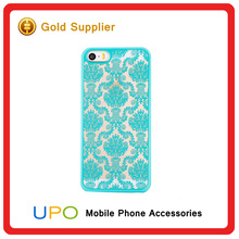 [UPO] Retro Court Lace Pattern Texture Clear Damask Hard Plastic Mobile Phone Case for iPhone 6