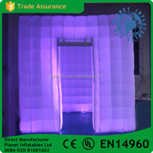 Colorful Lighting Trade Show Inflatable Booth For Sale