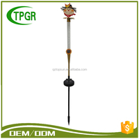 Outdoor Decorative Harvest Festival Scarecrow Metal Garden Stake Solar Led Light